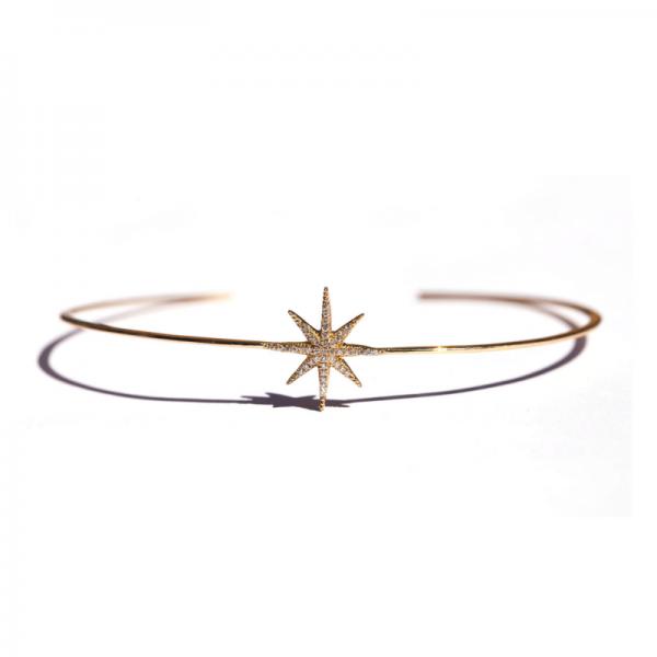 Bracelet Jonc STARDUST-BRJ-N Diamant Noir