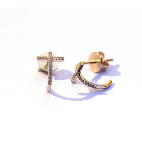 Boucles d'oreilles KOFI-BO-N Diamant Noir