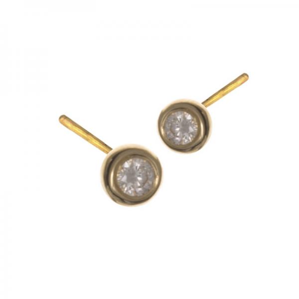 Boucles d'oreilles MIZO-1-BOP Diamant Blanc