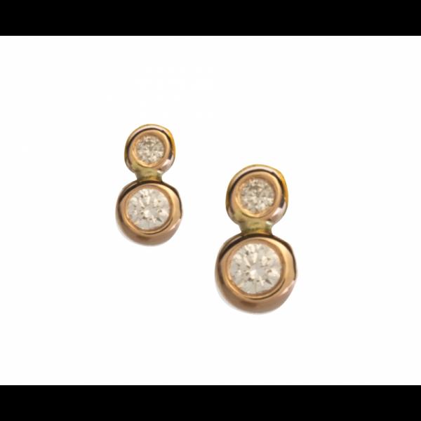 Boucles d'oreilles YOLO -13-BO Diamant Blanc