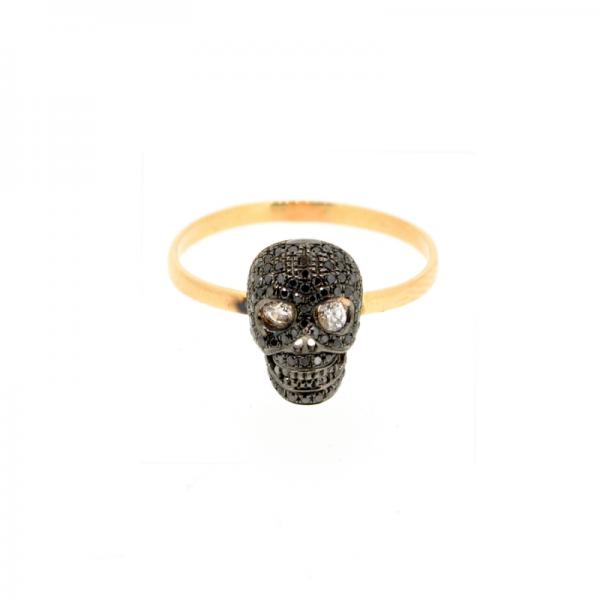 Bague SKULL-BG-N Diamant Noir