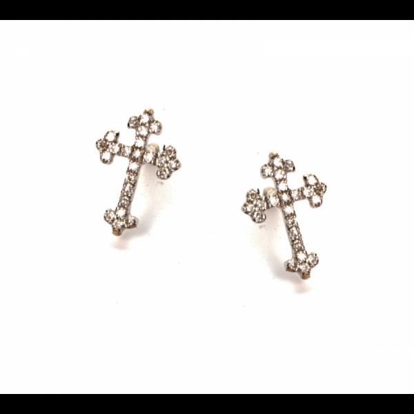 Boucles d'oreilles KIOJA-BOP Diamant Blanc