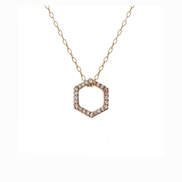 Collier ELENA-CL Diamant Blanc