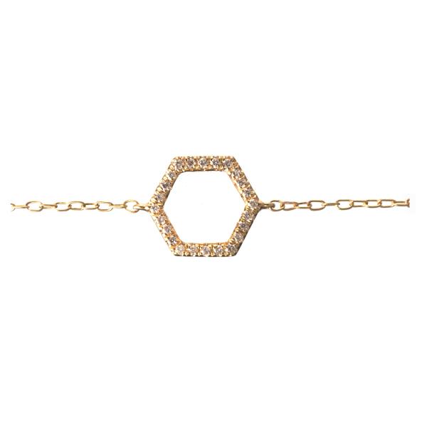 Bracelet ELENA-BR Diamant Blanc