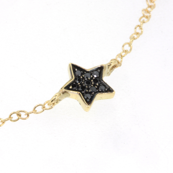 Collier ESTELLA-CLT-N Diamant Noir