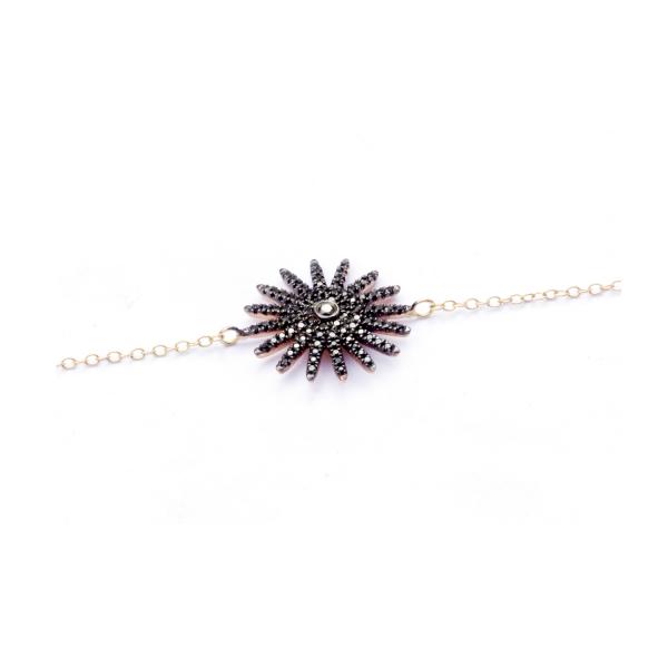 Bracelet BLACKSUN-BR-N Diamant Noir