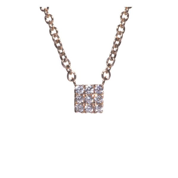 Collier KAMI-CL-N Diamant Noir