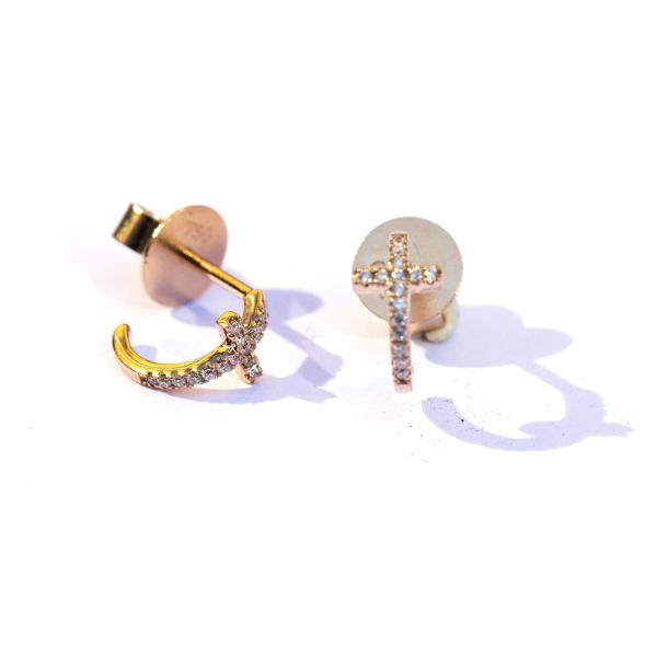 Boucles d'oreilles ZACH-BO Diamant Blanc