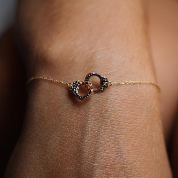 Bracelet HARPER1-BR-N Diamant Noir